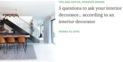 5 Questions To Ask Your Interior Decorator (Interview With Homes To Love)