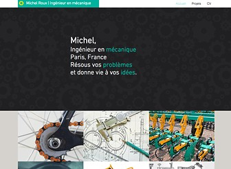 Ingénieur Mécanique Template - Grâce à sa navigation simple, son design épuré et sa mise en page claire, ce template vous permet l'accent sur le contenu de votre site. Personnalisez la galerie et modifiez la page