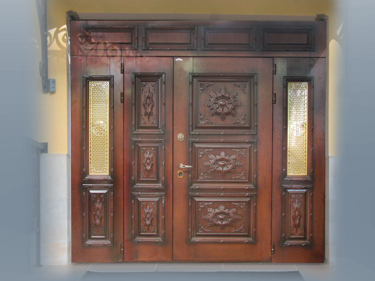 металлические двери с стеклопакетом в подольске