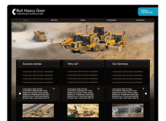 Heavy Equipment Template - This slick Corporate Flash template is perfect for the New business. Simply add your logo, plug in your own text and images and customize colors and you are ready to show it off to clients