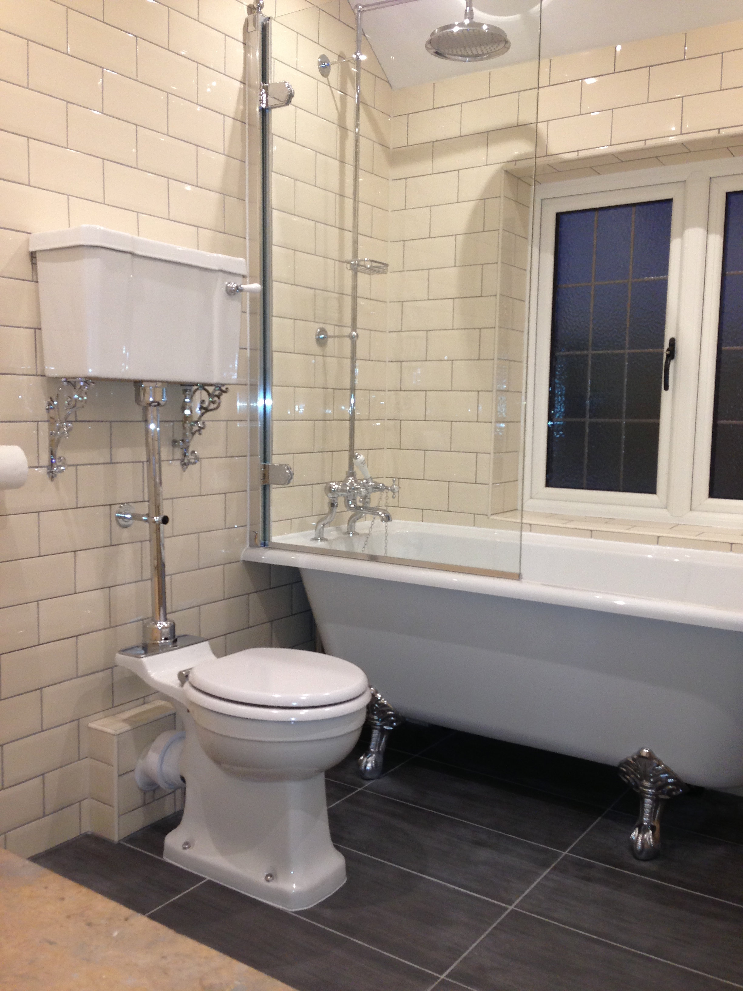 Fantastic If Youve Set Your Sights On Remodelling Your Bathroom, A Simple And Elegant Victorian  Tiles Can Provide A Marble Look While Wooden Floor Panelling Or Ceramic Tiles With A Wood Grain Also Work Well With Both The Bathtub And The Style