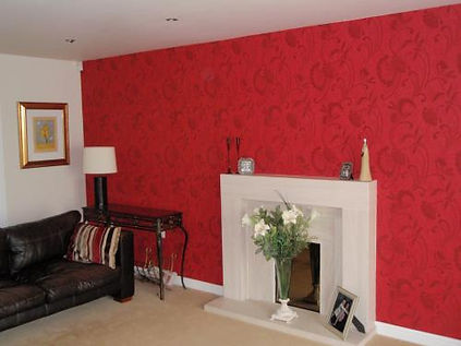 Domestic Sitting Room Decorated