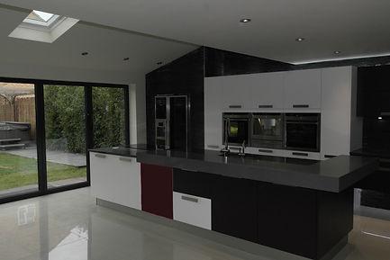 New kitchen painted in Lowdham