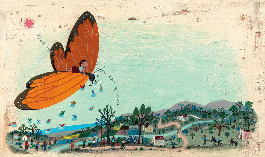Ana's Dream with the Butterfly, 2012Impressão fineart em papel matte30,5 X 33 cm