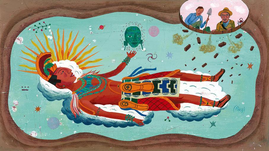 King Pakal And The Jade Mask, 2008acrílica sobre placa de ilustração45,7 X 28 cm