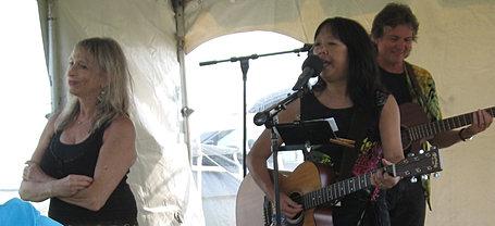 Patricia Shih in the Children's Tent