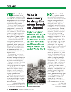 us history atomic bomb desision: right or wrong essay View essay - atom bomb essay from history us history at waxahachie h s 1 emmeline sullivan hist 1302 - a2 coulson april 18, 2017 the final decision: right or wrong.