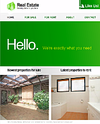 Green Properties FB Template - Create your own stunning Facebook Fan Page with this simple-to-use Flash template. Designed with your unique business needs in mind, this Modern template is the perfect stage to show off your personal and professional presence.
