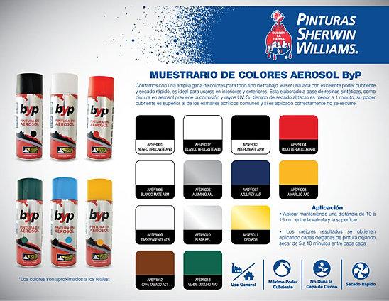 Pinturas sherwin williams en toluca aerosoles byp for Muestrario de pinturas