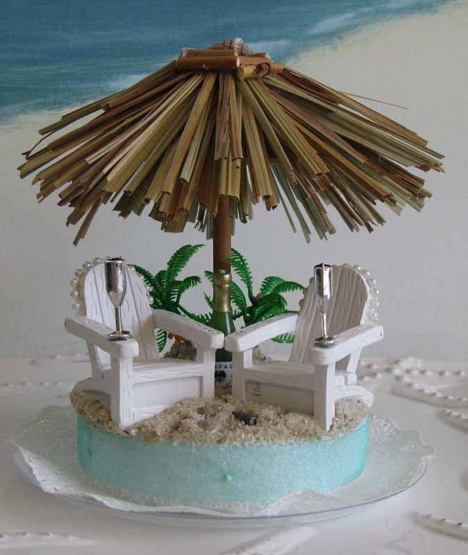 Tiki Wedding Cake Toppers
