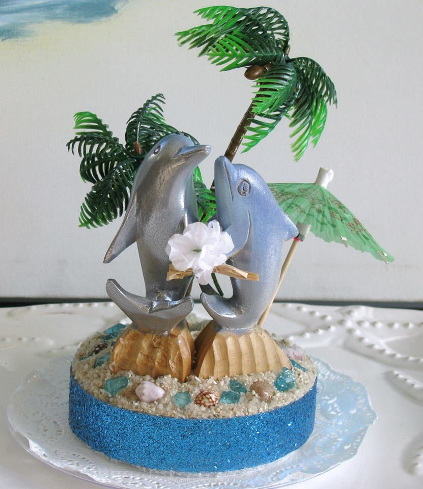 Beach Wedding Cake Toppers By CeShore Treasures