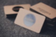 printed by Stitch Press | stitchpress.com.au | black foil on kraft business card