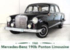 Mercedes Benz 190b Ponton Limousine
