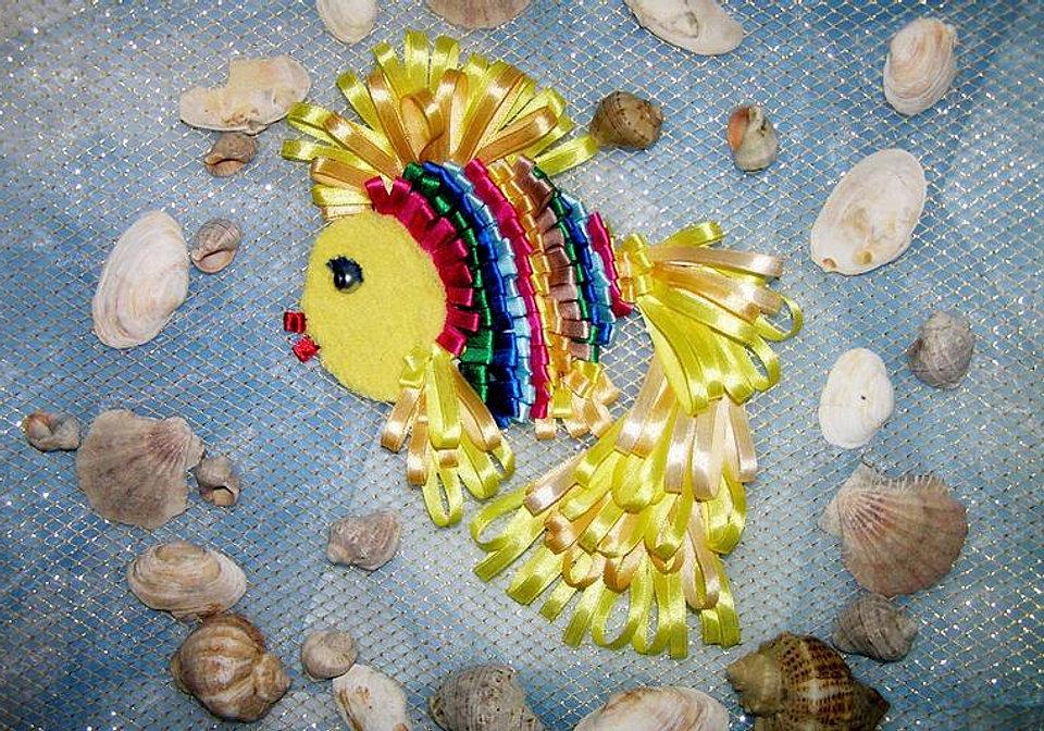Поделка к сказке о золотой рыбке