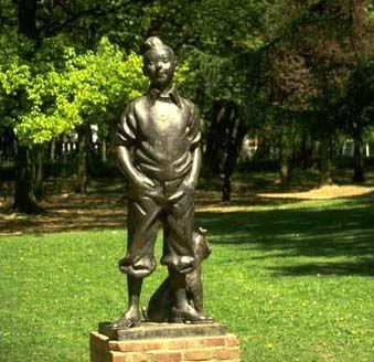 Tintin et bruxelles for Statue de jardin belgique