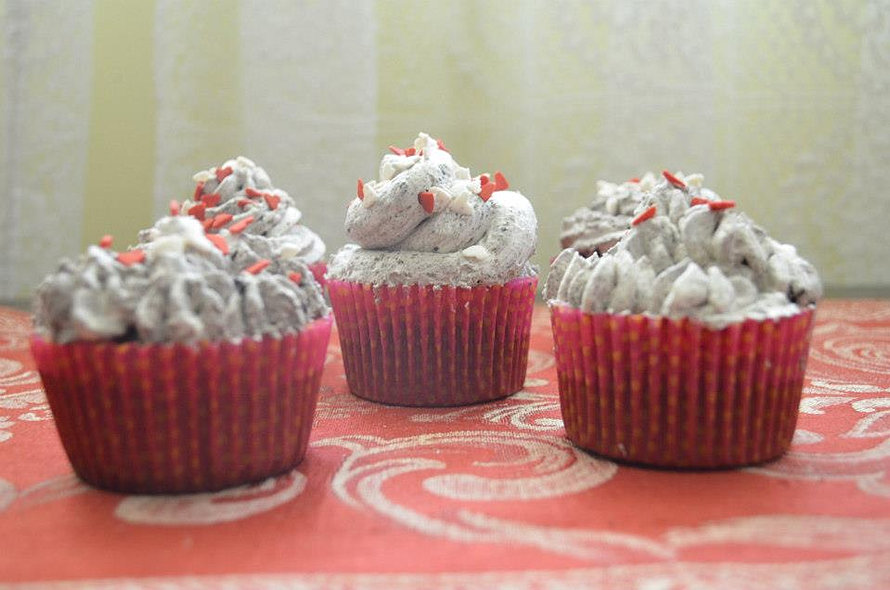 cup cakes de Cookies and Cream