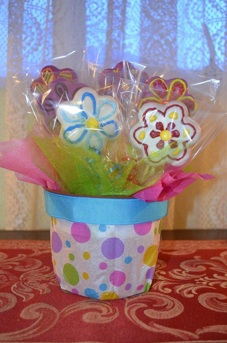 Arreglo de cake pops de flores