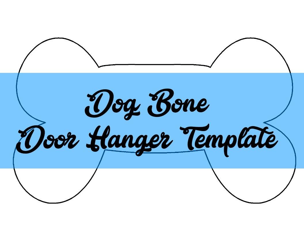 Dog Bone Door Hanger & Wreath TEMPLATE