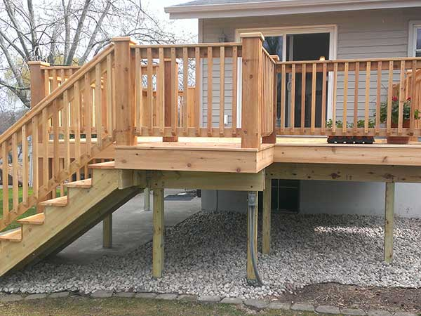 Basile construction atlanta contractor deck construction for Patio construction ideas