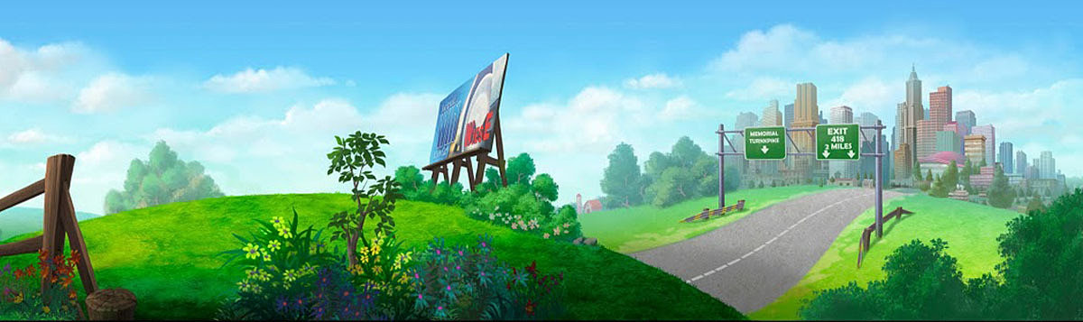 golden street animation country road animation background