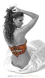 Body Painted Harley Davidson logo