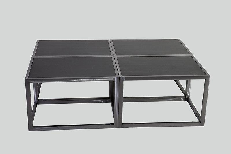 Cuatro mesas modelos Mesa Auxiliar Cubo fabricadas en perfil de 2x2 ...
