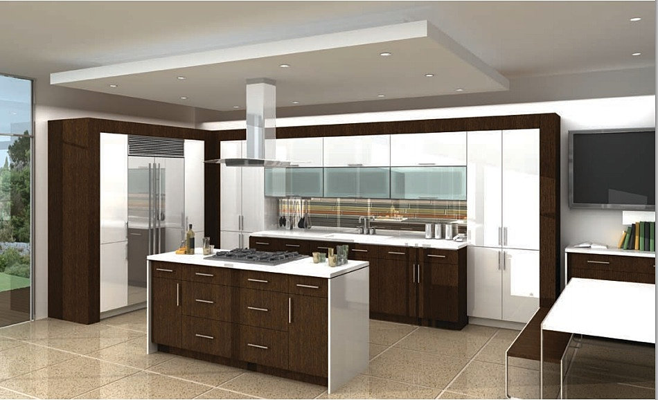 Modern kitchen bath designs inc hanssem at modern for Modern kitchen cabinets nj