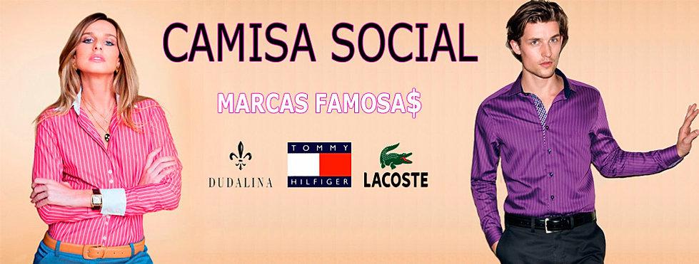 Camisa social marcas famosas grife