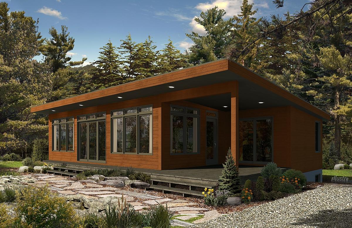 Pin modele maison toit plat plans construction on pinterest for Maison moderne orford