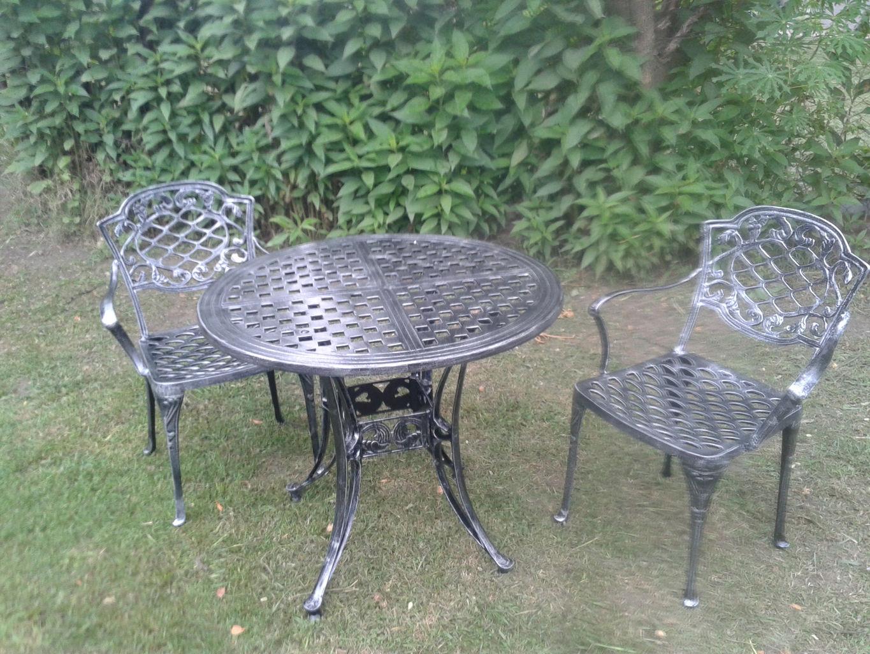 Fundici n de aluminio juegos de jard n sillas mesas parques faroles deco wolf for Juego de jardin fundicion aluminio