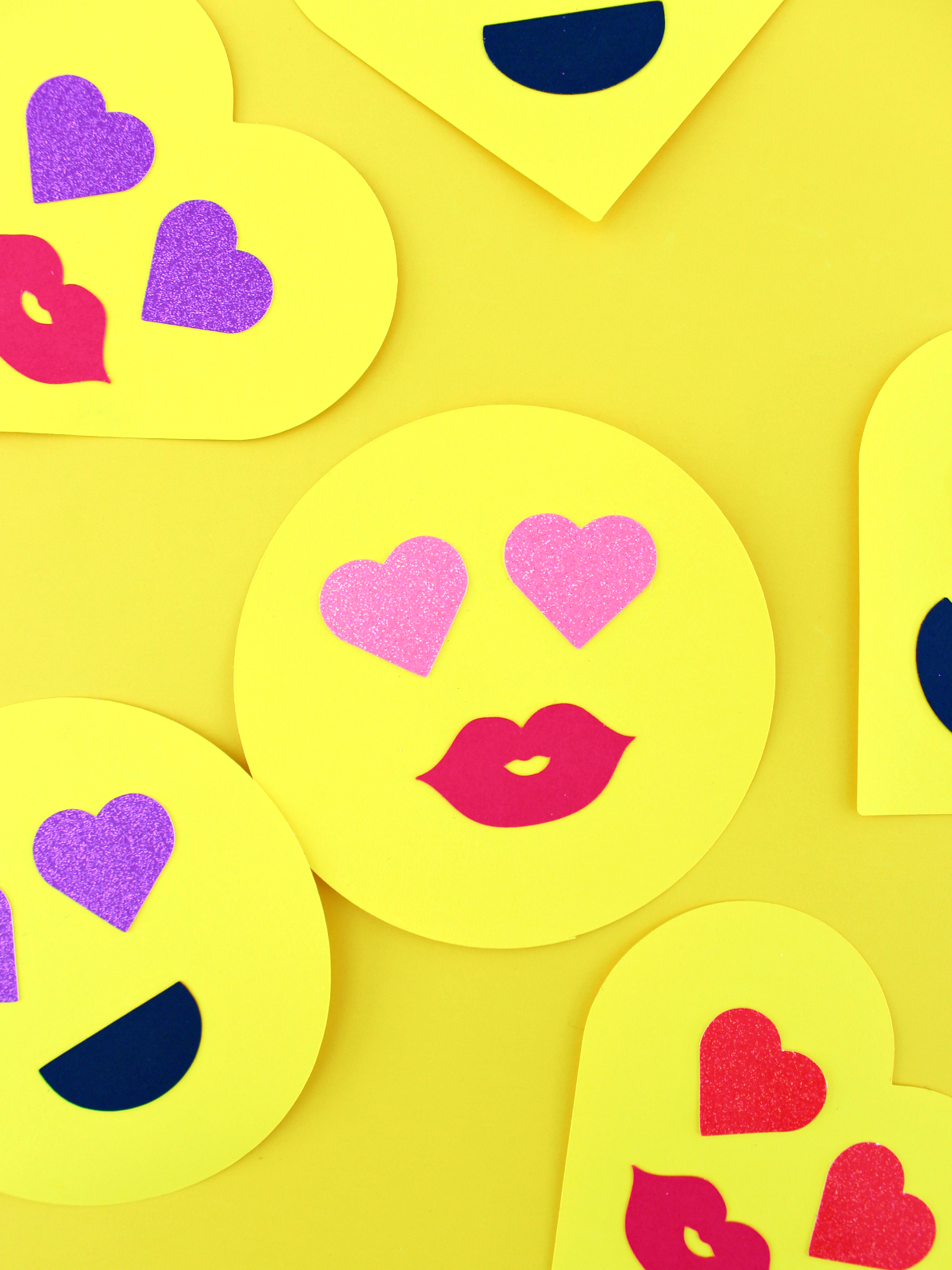TWO-STEP PAPER EMOJI VALENTINE'S (WITH FREE CUT FILE)
