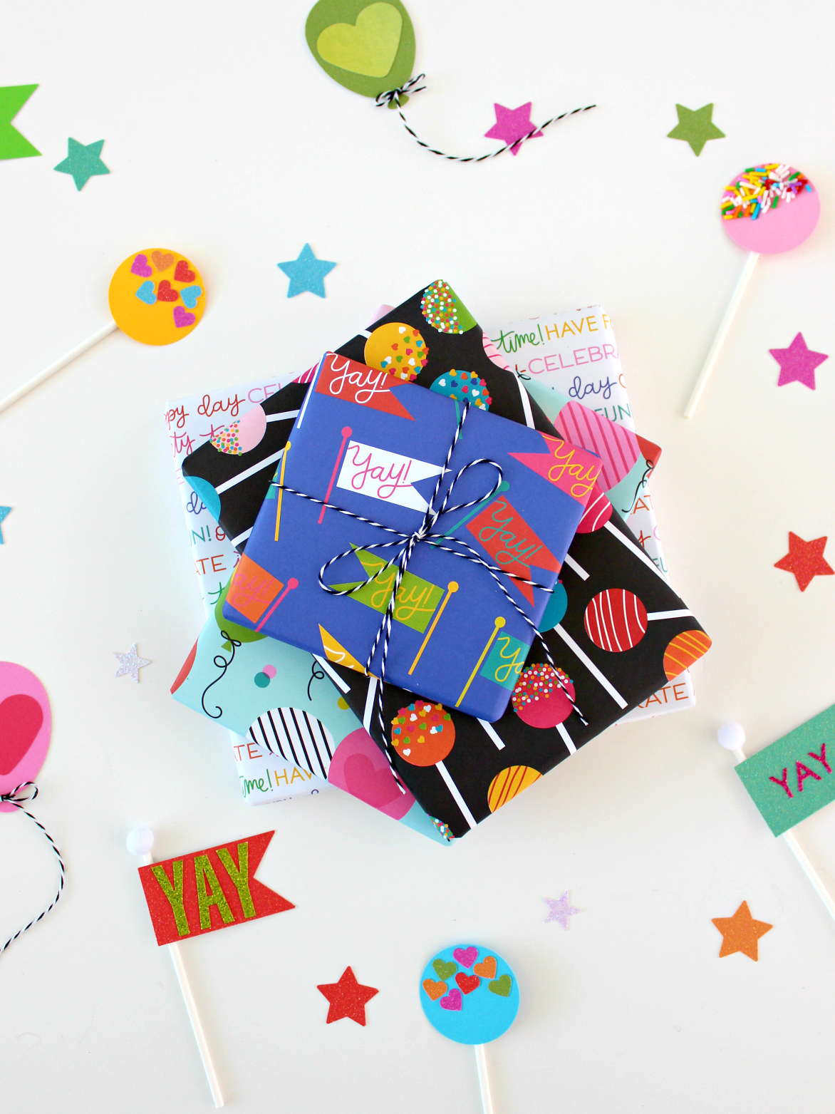 SCRAPBOOK PAPER GIFT WRAPPING IDEAS