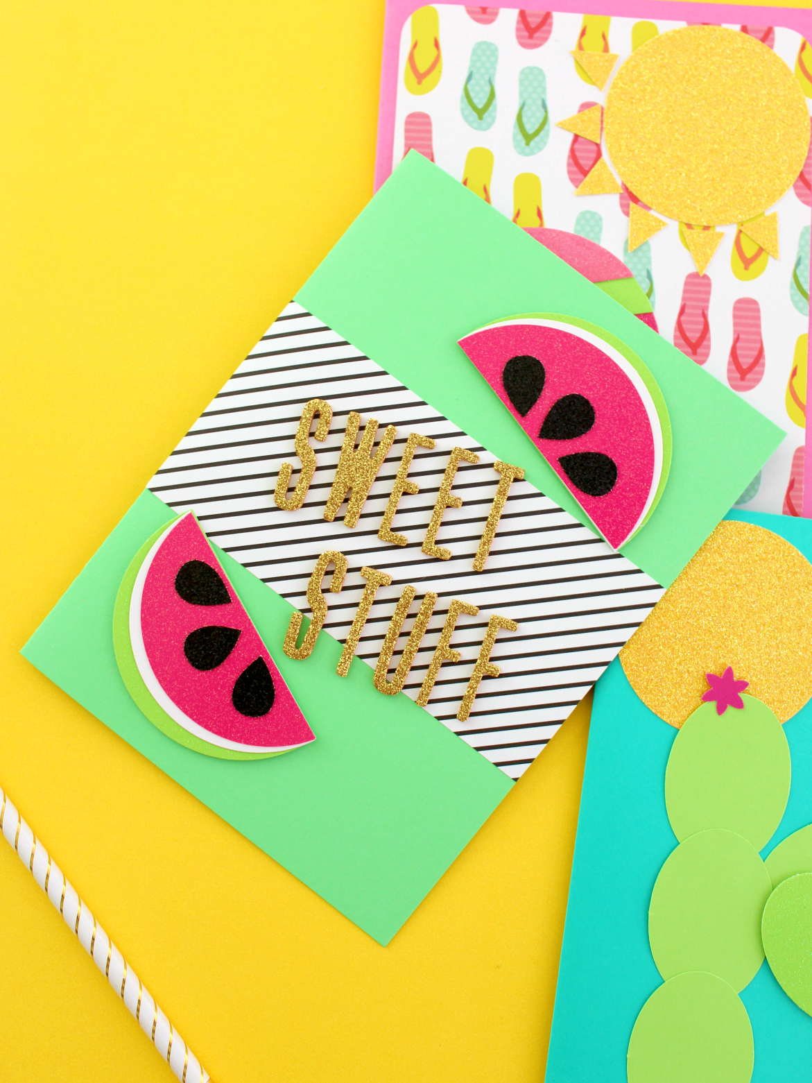 3 FUN SCRAPBOOK PAPER CARDS FOR SUMMER