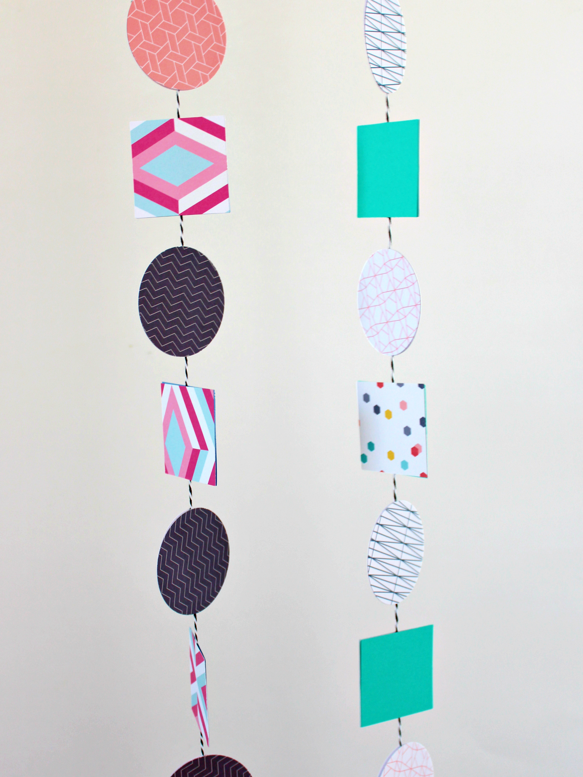 MAY PAPER CRAFT CHALLENGE DAY 14: GEOMETRIC GARLAND