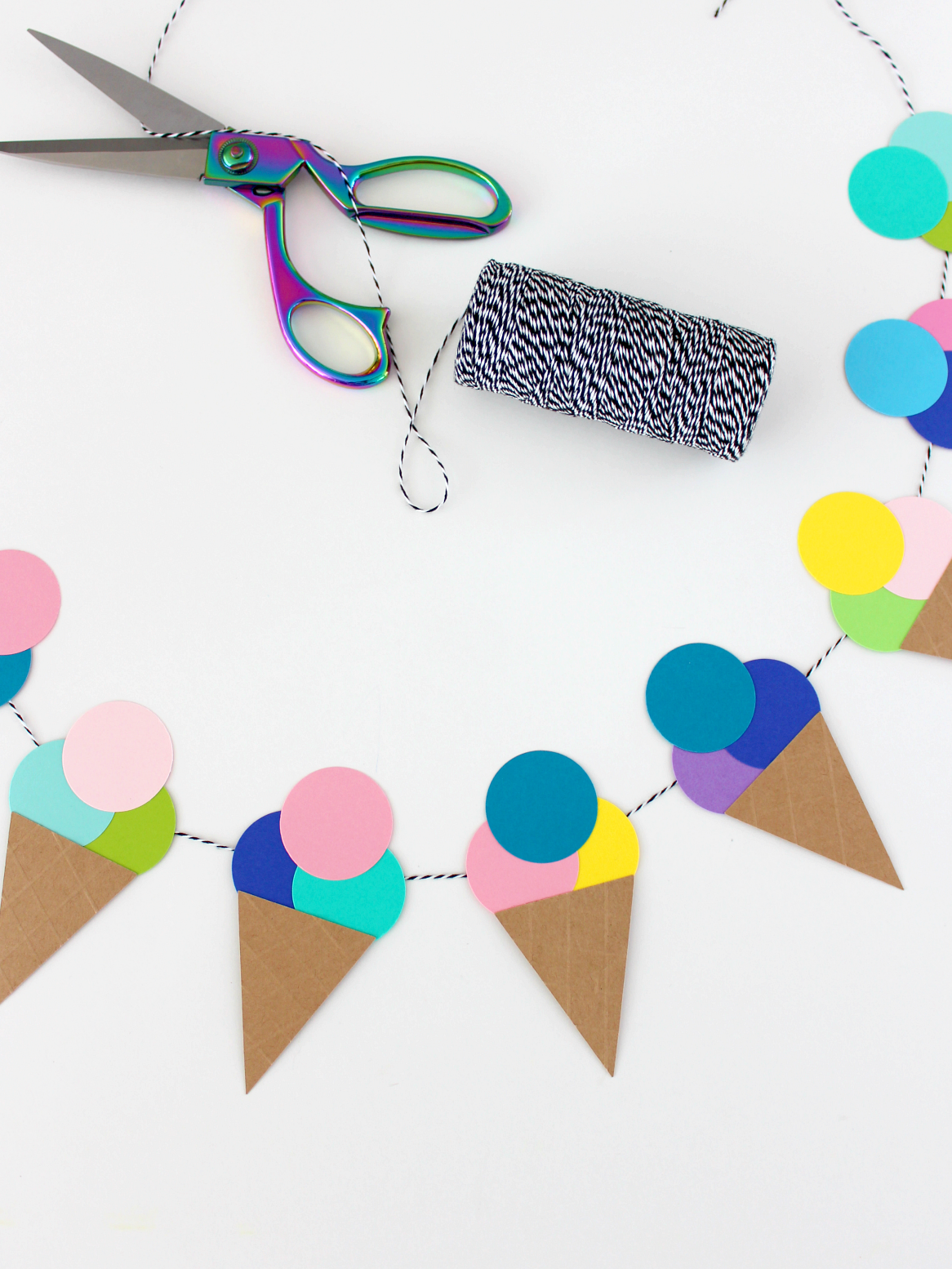 MAY PAPER CRAFT CHALLENGE DAY 20: ICE CREAM GARLAND