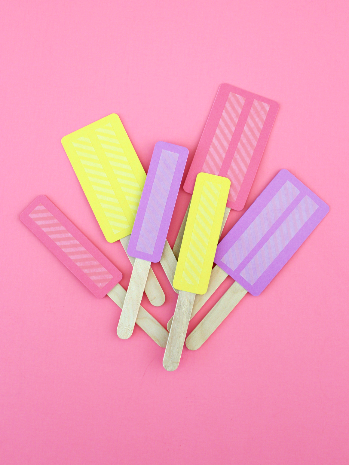 DOUBLE-SIDEDWASHI TAPE POPSICLES (WITH FREE TEMPLATE)