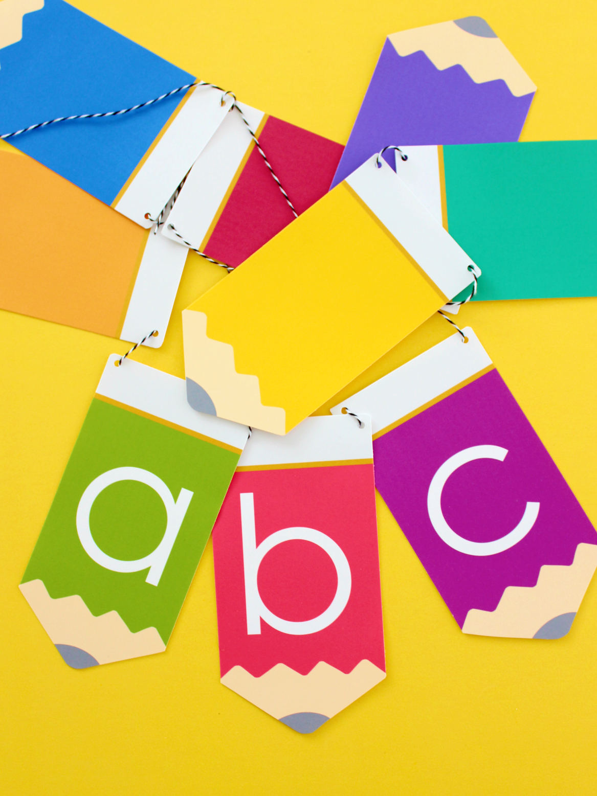 "FREE PRINTABLE ""ABC"" PENCIL GARLAND"