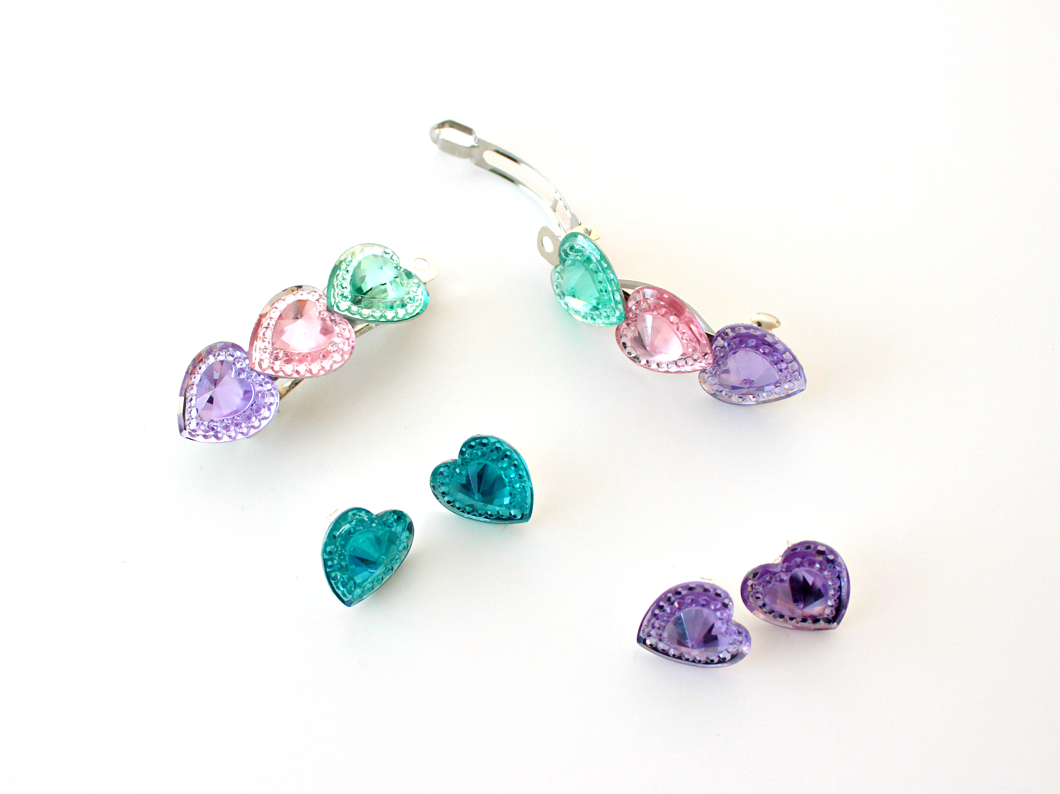 DIY MATCHING HEART EARRINGS & BARRETTES FOR KIDS OR ADULTS