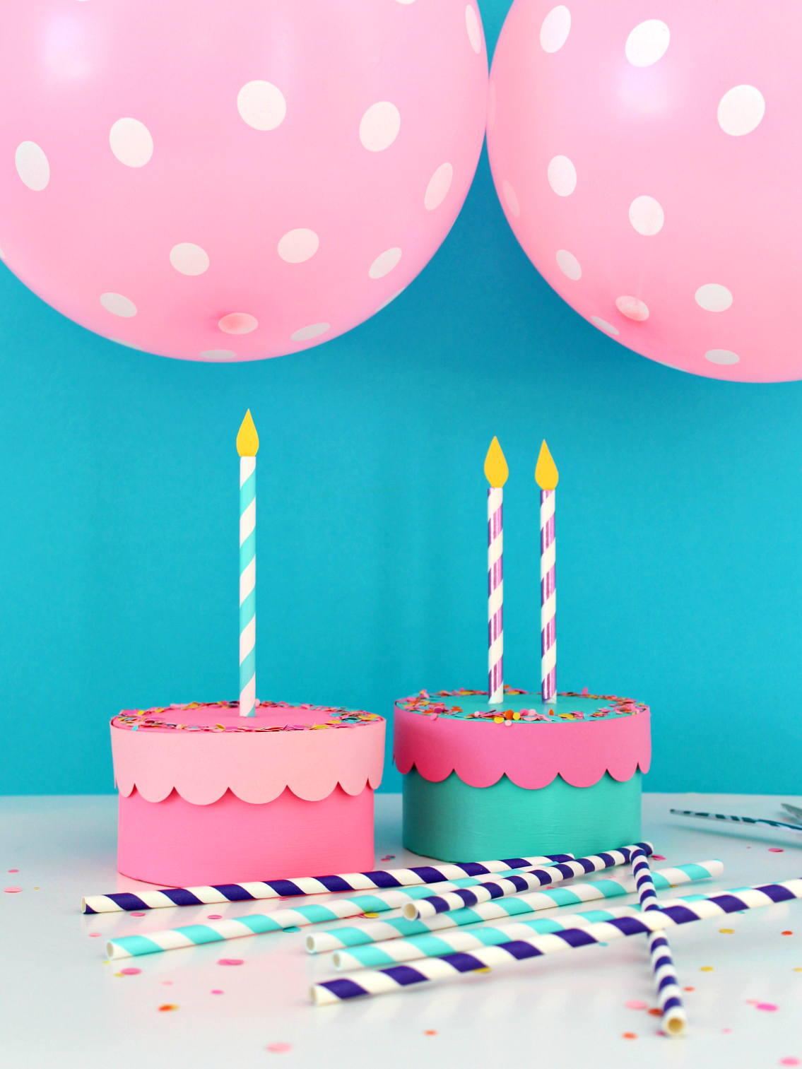 DIY BIRTHDAY CAKE GIFT BOXES (WITH FREE CUT FILE)
