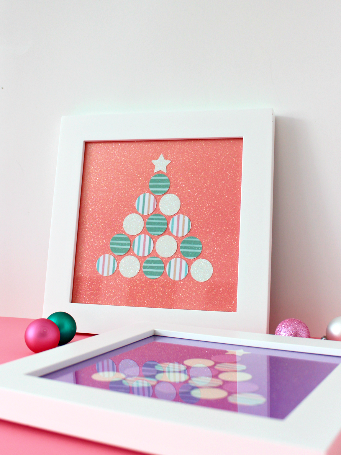 PAPER PUNCHED CHRISTMAS TREE ART