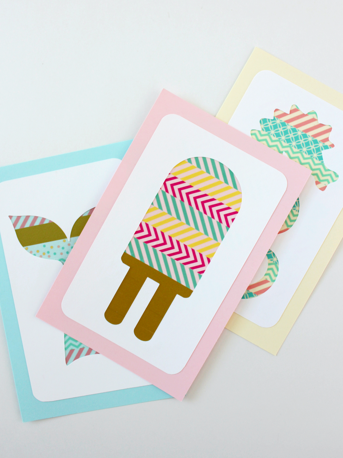 SUMMER SHAPES WASHI TAPE ART (WITH FREE SVG FILES)