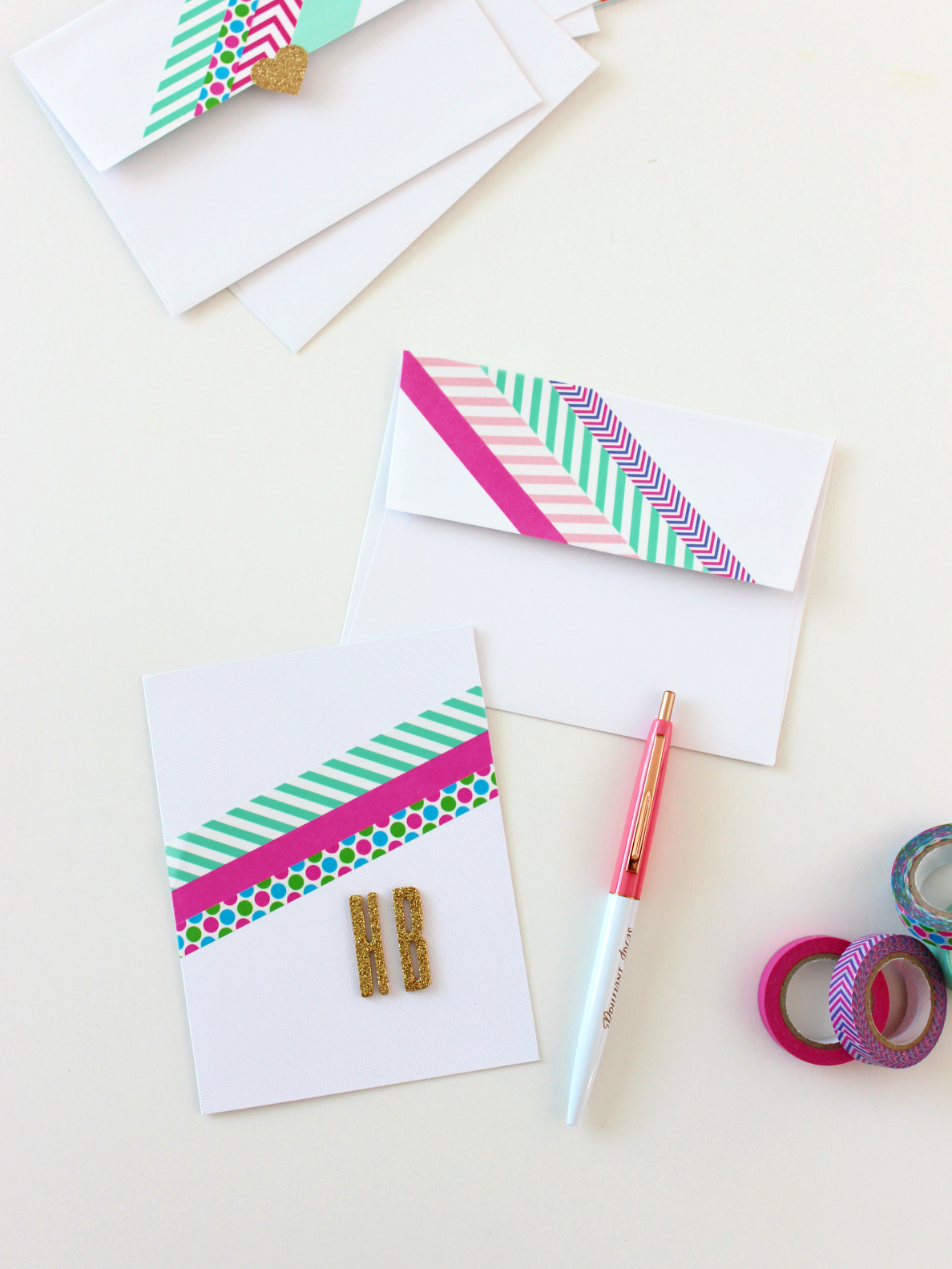 BRIGHT WASHI TAPE CARDS & ENVELOPES