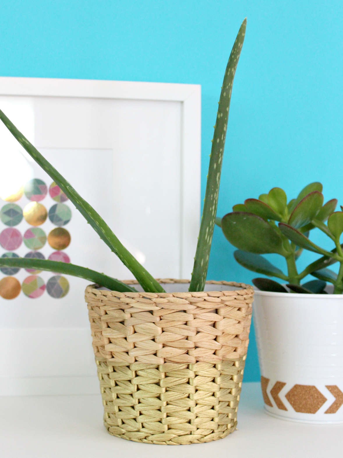 IKEA HACK: QUICK PLANTER MAKEOVER WITH GOLD SPRAY PAINT