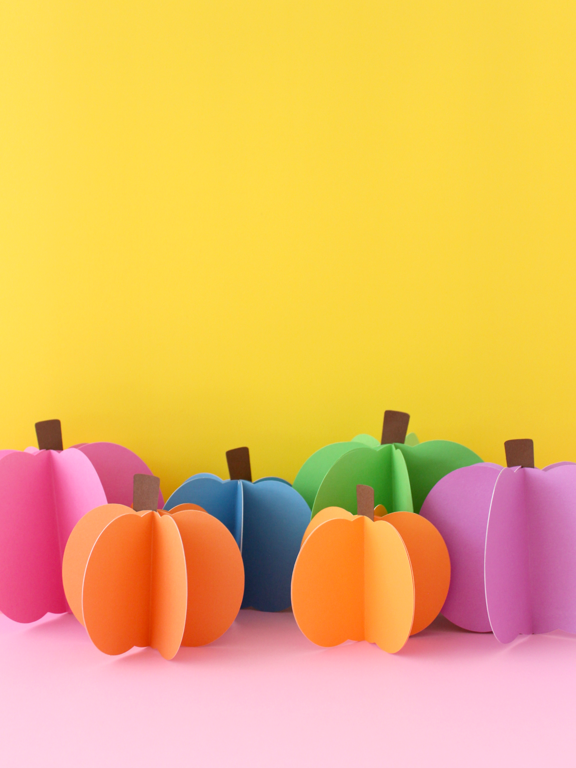3D PAPER PUMPKINS (WITH FREE TEMPLATE)