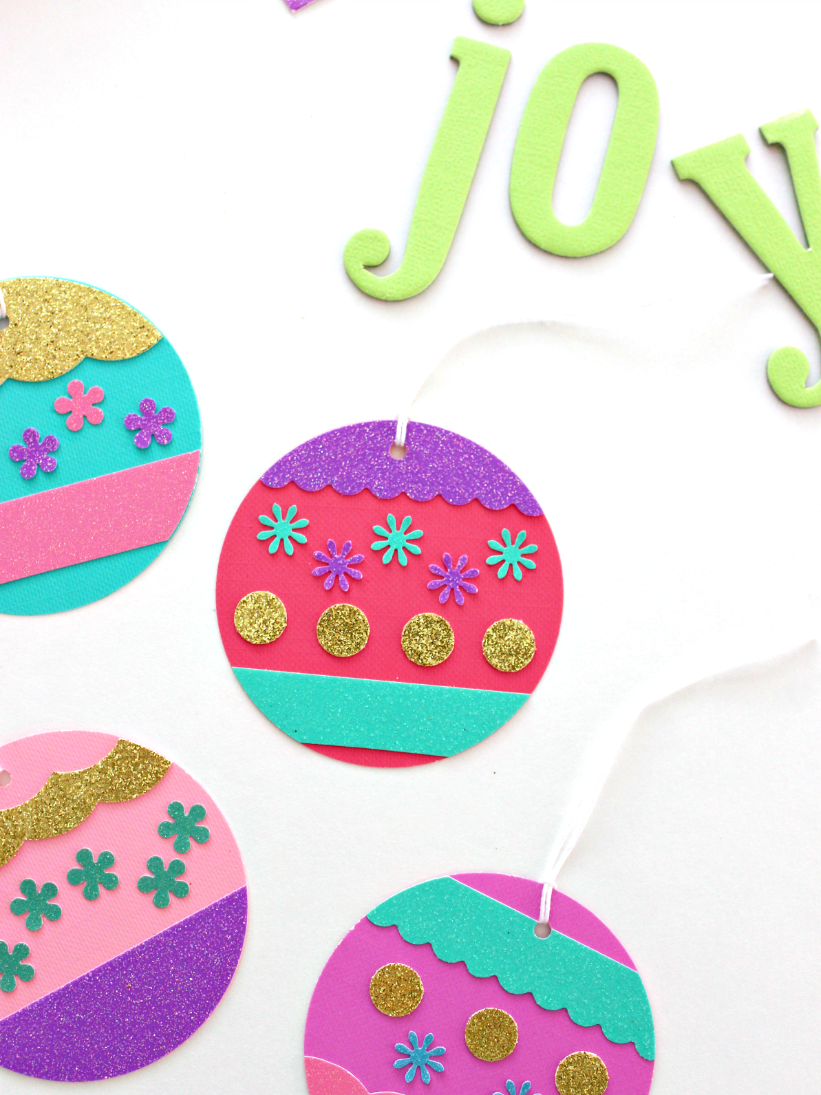 GLITTER PAPER HOLIDAY ORNAMENT TAGS & WHERE TO STOCK UP