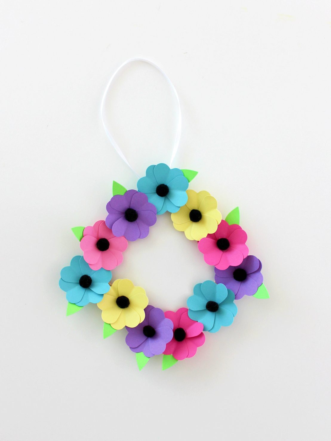 DIY SUMMER FLOWER WREATH
