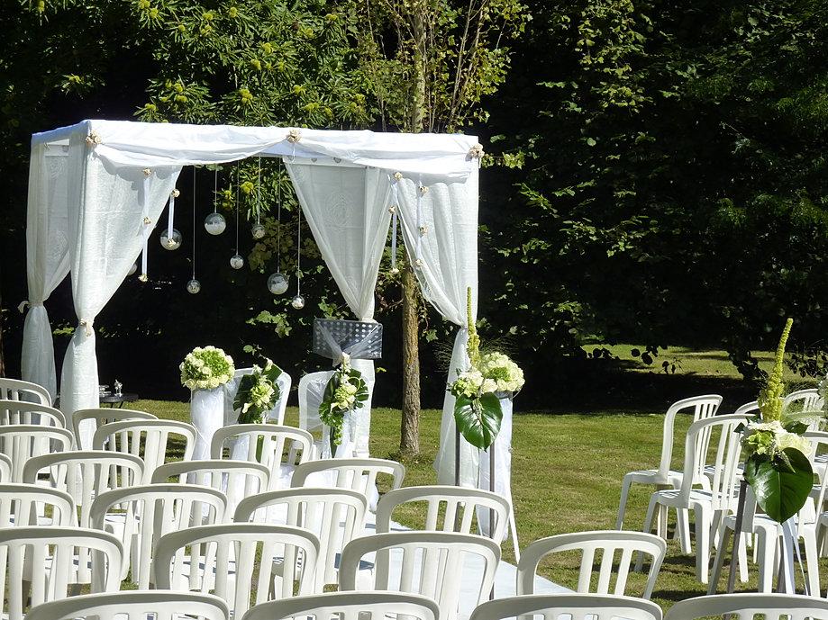 D coration de mariage wedding planner organisation mariage - Decoration arche mariage ...