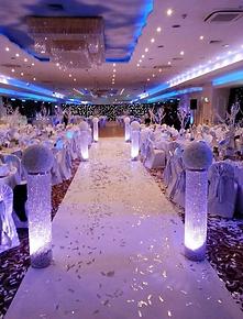 Tac wedding decoration walkway aisle london wedding crystal pillar hire junglespirit Gallery