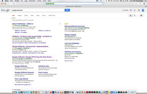 søkeord på google
