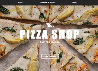 Pizza Restaurant Template - A trendy restaurant needs a trendy website. This mouthwatering website template is the perfect balance of modern and chic and is great for any upcoming restaurant wishing to build an online presence. Using Menus by Wix Restaurants, you can easily add, edit and manage menu items with a simple click. Start editing now to create a website that's as appealing as your restaurant!